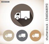 truck icon vector icon . lorem...   Shutterstock .eps vector #1568368093