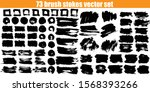 big brush strokes collection.... | Shutterstock .eps vector #1568393266