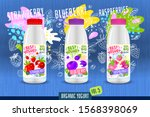 abstract splash yogurt bottle... | Shutterstock .eps vector #1568398069
