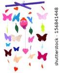baby mobile   kids toys | Shutterstock . vector #156841448