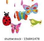baby mobile   kids toys | Shutterstock . vector #156841478