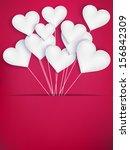 valentines day heart balloons...   Shutterstock .eps vector #156842309