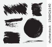 monochrome abstract vector... | Shutterstock .eps vector #1568426140