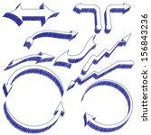 a set of pen drawn design... | Shutterstock . vector #156843236