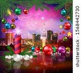 celebration illustration with... | Shutterstock . vector #1568442730