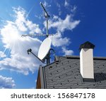Satellite Dish And Antenna Tv...