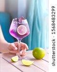 fresh cocktail. fresh summer... | Shutterstock . vector #1568483299