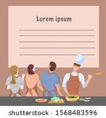 cooking class poster or banner... | Shutterstock .eps vector #1568483596