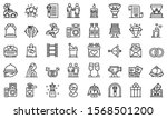 wedding ceremony icons set.... | Shutterstock .eps vector #1568501200