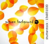 autumn background | Shutterstock .eps vector #156851030