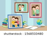 photos of sons from infants... | Shutterstock .eps vector #1568533480