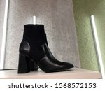 black boots with contrast... | Shutterstock . vector #1568572153