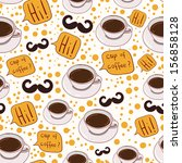 cup of coffee pattern   Shutterstock .eps vector #156858128