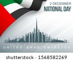 48 uae national day banner with ...   Shutterstock . vector #1568582269