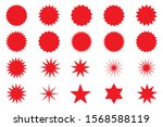 retro stars  sunburst. red... | Shutterstock .eps vector #1568588119