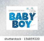 baby card | Shutterstock .eps vector #156859220
