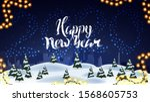 Happy New Year  Blue Postcard...
