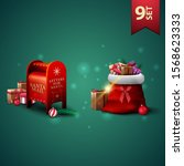 set of christmas 3d icons ... | Shutterstock .eps vector #1568623333