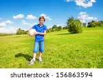 nice smiling happy 8 years old...   Shutterstock . vector #156863594