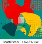 low detail solid color globular ... | Shutterstock . vector #1568647750