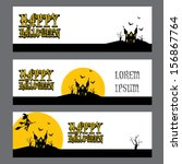 vector halloween banner set for ... | Shutterstock .eps vector #156867764