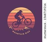 mountain bike vintage retro...   Shutterstock .eps vector #1568719216