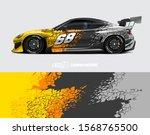car wrap decal designs.... | Shutterstock .eps vector #1568765500