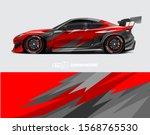 car wrap decal designs....   Shutterstock .eps vector #1568765530