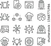technology icons set vector... | Shutterstock .eps vector #1568771986