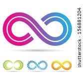 illustration of infinity... | Shutterstock . vector #156881204
