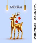 merry christmas and happy new... | Shutterstock .eps vector #1568821993