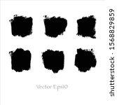 vector brush stroke watercolor... | Shutterstock .eps vector #1568829859