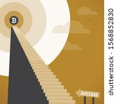 abstract staircase to business...   Shutterstock .eps vector #1568852830