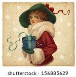 vintage illustration. beautiful ... | Shutterstock . vector #156885629