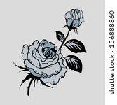rose motif pattern hand drawn... | Shutterstock .eps vector #156888860