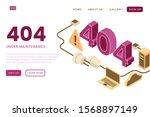 illustration of error page  404 ...