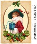 vintage illustration.beautiful... | Shutterstock . vector #156891464