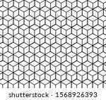 abstract simple 3d square... | Shutterstock .eps vector #1568926393