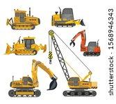 construction equipment ... | Shutterstock .eps vector #1568946343