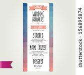 wedding menu  template design... | Shutterstock .eps vector #156895874