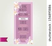 wedding menu  template design... | Shutterstock .eps vector #156895886