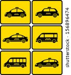 set of cars with taxi symbol on ... | Shutterstock .eps vector #156896474