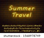 realistic yellow neon font... | Shutterstock .eps vector #1568978749