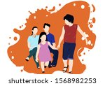 an illustration of a family | Shutterstock . vector #1568982253
