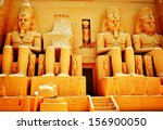 ancient egyptian statue | Shutterstock . vector #156900050