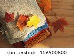 autumn clothes | Shutterstock . vector #156900800