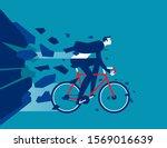 businessman breakthrough....   Shutterstock .eps vector #1569016639