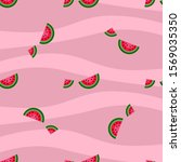 seamless pattern with juicy... | Shutterstock .eps vector #1569035350