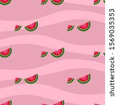 seamless pattern with juicy... | Shutterstock .eps vector #1569035353