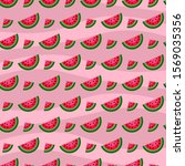 seamless pattern with juicy... | Shutterstock .eps vector #1569035356
